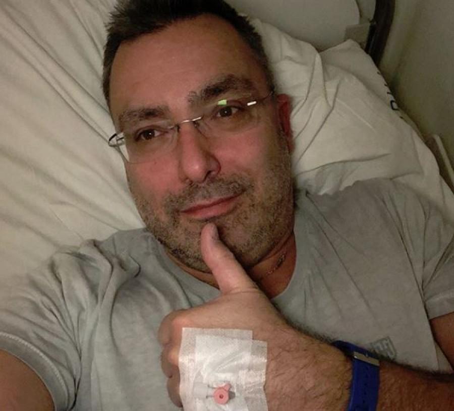 Sváby András a kórházi ágyból posztolt