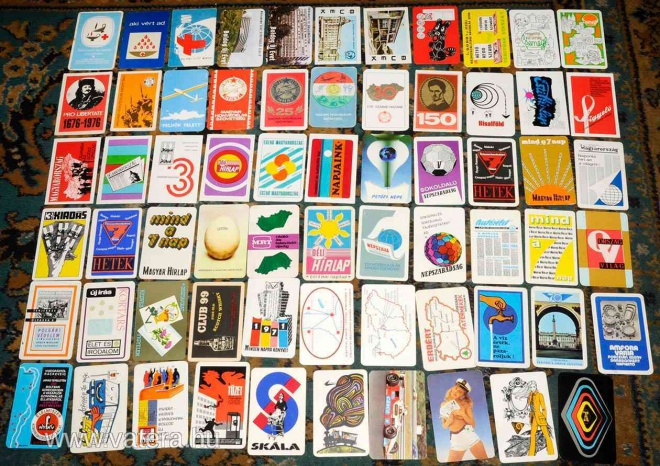 Kártyanaptár cserebere - régi idők játéka